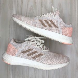 Adidas Pureboost Go size 8.5 Ash Pearl Coral